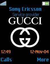 تم Gucci برای سونی اریکسون